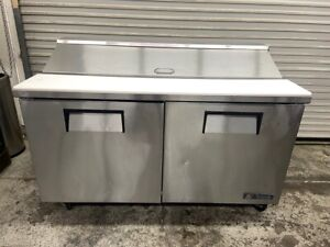 2 Door Refrigerated Sandwich Prep Table 60 Nsf Restaurant True Tssu 60 16 5134