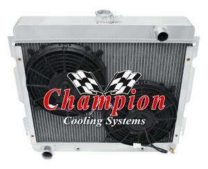 4 Row Sz Champion Radiator 2 10 Fans For 1970 1972 Plymouth Duster Big Block