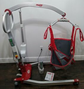 Molift Smart 150 Electric Portable Foldable Patient Lift 330 Capacity Sling