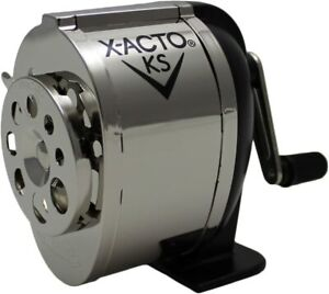 X acto Ranger 1031 Wall Mount Manual Pencil Sharpener silver black