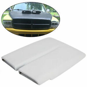 For 1970 76 Plymouth Duster Hood Scoop Cap White Painted Fiberglass