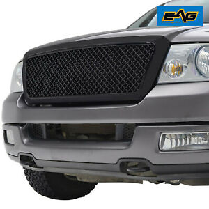 Eag Replacement Grille Black Grill Full Upper Mesh Fits 04 08 Ford F150
