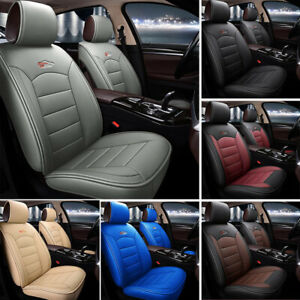 Us Car Suv Standard 5 Seat Pu Leather Seat Covers Cushion Front Rear Universal