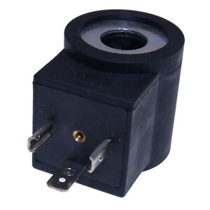 Coil 3 Prong Din Connector 12v Dc Size 08 For Hydraforce 6306012 Solenoid Valve