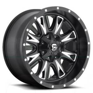 17x9 Matte Black Milled Wheels Fuel D513 Throttle 5x5 5x127 5x135 12 Set Of 4