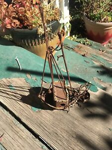Antique Vintage Steel Commercial Fishing Boat Model Very Cool And Unique