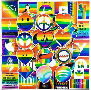 100 Pack Rainbow Lgbt Gay Pride Stickers Laptop Bottle Car Bumper Case Decal Lot