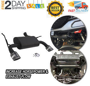 For 2007 2017 Jeep Wrangler Axle Dual Back Exhaust System Black Stainless Steel