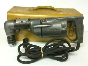 ma1 Vintage Milwaukee 450 Right Angle Drill W Carrying Case