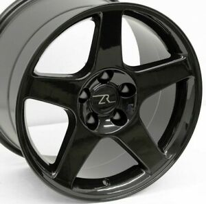 17 Black 03 Mustang Cobra Style Wheels 17x9 17x10 5 5x114 3 Ford Sn95 94 04