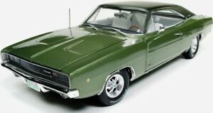 1968 Dodge Charger R t Green 1 18 Auto World 1140