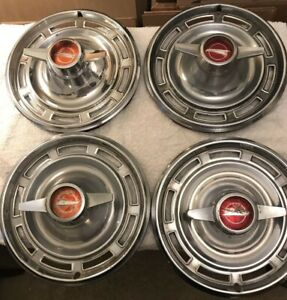 Set Of 4 1966 Buick Special 14 Inch Spinner Hubcap Wheel Cover