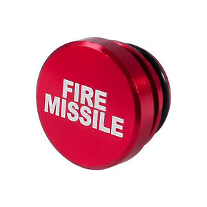 Fire Missile Button Car Cigarette Lighter Cover 12v Replacement Decor Aluminum