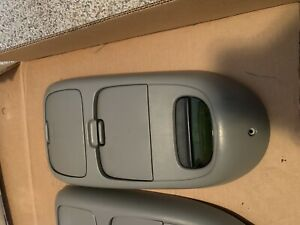 97 03 Ford F150 Roof Overhead Light Dome Console Storage Grey Oem