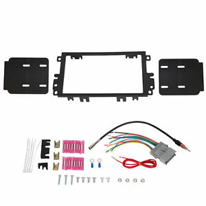 Black Double 2 Din Stereo Radio Dash Kit W Wiring Harness Fits Buick Chevy Gmc