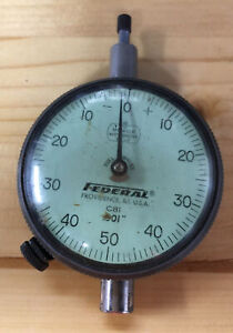 Federal Dial Indicator C81 2 Face 0 250 Of Travel