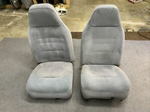 92 96 Ford Bronco F 150 97 F250 F350 Truck Front Bucket Seats Gray 40 20 40