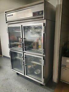 Victory Commercial 2 Section Glass Refrigerator
