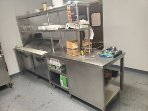 Commercial Prep Table With Victory Fridge Refrigerator