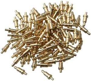 Mxfans 100x Gold plated 6mm Copper Needles Probes Spring Pogo Pin Connector New