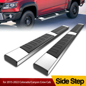 Running Boards For 2015 2021 Chevy Colorado Canyon Crew Cab 6 Side Steps Bars