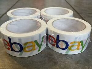 4 Official Ebay Brand Logo Packaging Tape 4 Rolls Shipping Packing Box Sealing