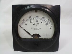 Untested Vintage Daystrom Weston Ac Volts Rectifier Type Model 302