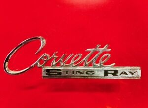 1963 1965 Corvette Original 3797414 Sting Ray Stingray Rr Deck Emblem 63 64 65