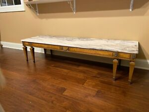 Weiman Marble Top French Provincial Coffee Table