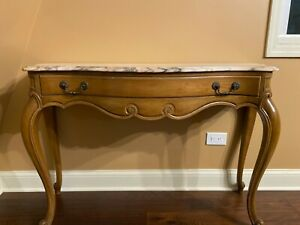 Weiman French Provincial Marble Top Sofa Table