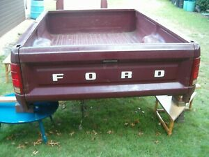 Pickup Truck Bed Take Off Ford 1980 1986 F100 F150 F250 8 Foot For Parts Restore