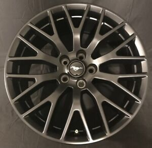 19 Ford Mustang Gt 2015 2020 Front Factory Satin Black Wheel Oem Rim 10036
