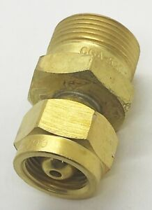 Cga 200 Mc Acetylene Cylinder Tank To Cga 520 B Regulator Adaptor