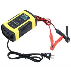 Lcd 12v 6a Pulse Repair Battery Charger For Car Motorcycle Agm Gel Wet Lead Acid