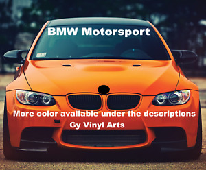 Windshield Decal Car Sticker German Banner Graphics Motorsports For Fit Bmw Car