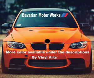 Windshield Decal Car Sticker Bavarian Motors Banner Graphics For Fit Bmw Car