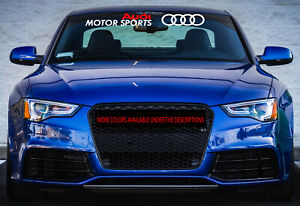 Windshield Decal Car Sticker German Banner Graphics Motorsports For Fit Audi Car
