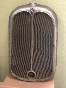Vintage 1929 Oakland All American Six Original Radiator Shell And Grill