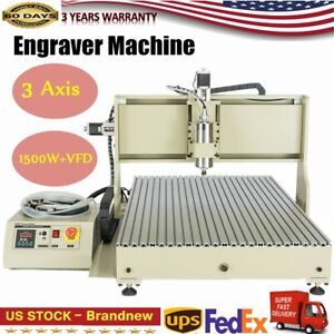 6090 Usb 3 Axis Cnc Router Engraver Woodworking Milling Cutting Machine Usa New