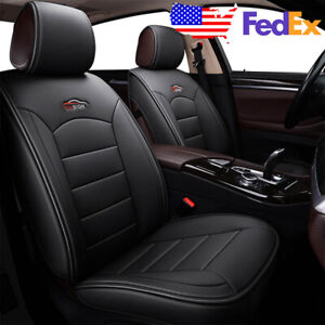 2pcs Front Row Car Pu Leather Seat Covers Cushion For Toyota Camry Corolla Rav4