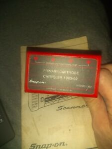 Snap on Scanner Mt2500 1392 Primary Cartridge Chrysler 1983 92 With Manual