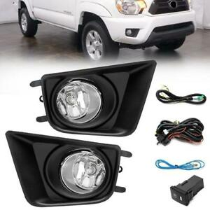 For Toyota Tacoma 12 15 Front Left Right Fog Light Black Cover Switch Harness