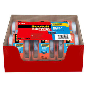 Scotch Heavy Duty Shipping Packaging Tape Dispensers 2 X 27 7 Yd 6 Pack