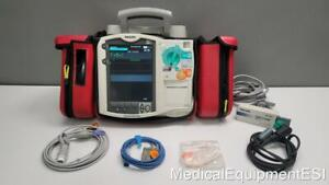 Philips Heartstart Mrx 3 Lead Ecg Spo2 Etco2 Pacing W Ac Adapter Battery