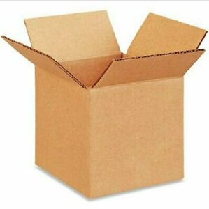 50 4x4x4 Cardboard Paper Boxes Mailing Packing Shipping Box Corrugated Carton
