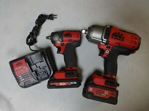 Mac Tools 1 2 3 8 Impact Wrench Set 20v Bwp152 Mcf891 With Bats Chrg Nice