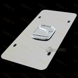 3d Chrome Honda Front Mirror Stainless Steel License Plate Frame Civic Accord