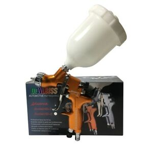 Devilbiss Hd 2 Spray Gun Hvlp Gravity Feed Auto Paint For Car furniture 1 3mm