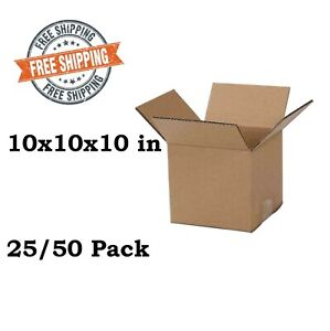 10x10x10 In Cardboard Paper Boxes Mailing Packing Shipping Box Corrugated Carton