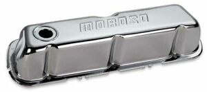 Moroso 68201 Chrome Stamped Steel Valve Covers Ford 221 351w Small Block Pair